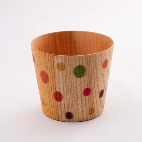 山中漆器 欅 しっとりカップ カラフル (S)