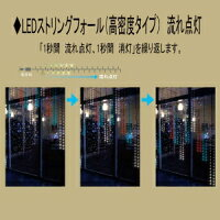 ジェフコムLEDストリングフォール《SJシリーズ》高密度タイプAC100V2.6W0.2Aサイズ:2m青SJ-H05-02BB