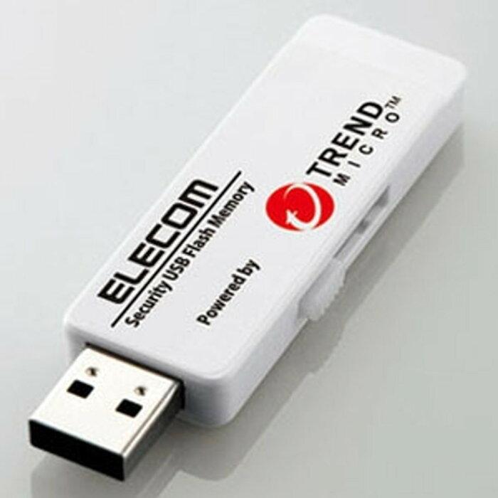 ELECOM セキュリティUSBメモリ トレンドマイクロエディション USB3.0対応 8GB 1年ライセンスモデル MF-PUVT308GA1