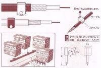 【ヒノモト】同軸ケーブル用ステップル(黒)100個入りHDC-5B