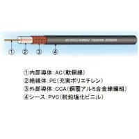 関西通信電線同軸ケーブル監視カメラ(映像配信用)3C-2V(C)×100m巻き黒3C-2V(C)クロ×100m
