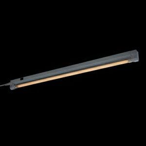 ヤザワ LEDスリムライト 直管形LEDランプ 8W 電球色 コード長1.5m LEDFLSS08L