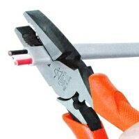 フジ矢偏芯パワーペンチくわえ部ギザ付圧着機能付サイズ:225mm3000N-225