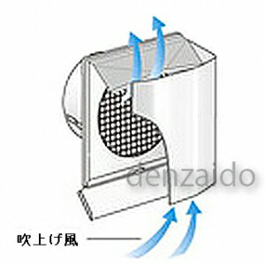 バクマ工業 耐外風フード付換気口 上下開口型 フード・ルーバー脱着式 防火ダンパー付 水切り付 低圧損 ステンレス製 シルバーメタリック 200φ用 ND-200JKR