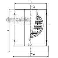 バクマ工業防音フード角・深型フード付換気口下部開放タイプフード・ルーバー脱着式水切り付アミ付ステンレス製シルバーメタリック100φ用PS-100KD-A10