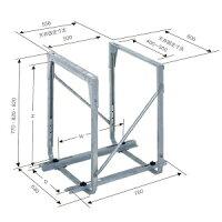 日晴金属クーラーキャッチャー天井吊用溶融亜鉛メッキ仕上げC-DZG-H