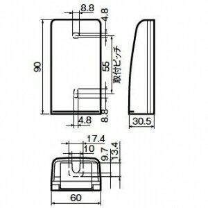 パナソニック 小形防雨入線カバー 露出取付型 WP9171