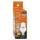 NEC 電球形蛍光ランプ D形 ミニクリプトン電球40W相当タイプ 3波長形電球色 E17口金 コスモボー...