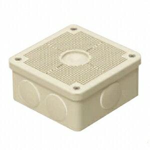 未来工業 露出用四角ボックス 取付自在蓋 ケーブルブッシング付き グレー PV4B-ANF