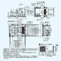 三菱バス乾燥・暖房・換気システム24時間換気機能付100V電源3部屋用1部屋暖房/3部屋換気ACモーターV-143BZ