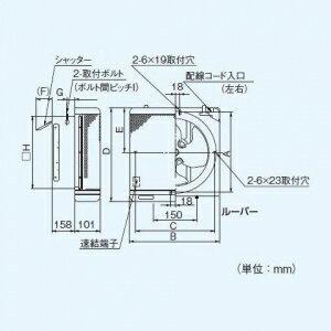 パナソニック インテリア形有圧換気扇 低騒音形 インテリアメッシュタイプ FY-25LSM