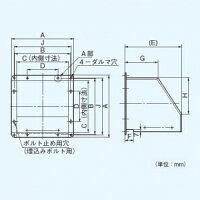 パナソニック有圧換気扇専用部材屋外フード40cm用ステンレス製FY-HMX403