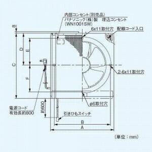 パナソニック 一般・台所・事務所・居室用換気扇 金属製換気扇 フィルター付 排気 電気式シャッター 埋込寸法:30cm角 FY-25EJM5