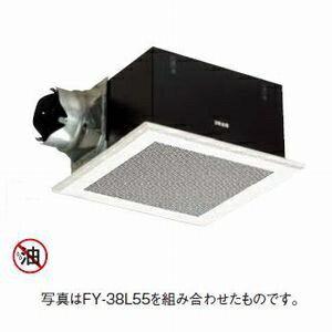 パナソニック 天井埋込形換気扇 排気・強-弱 低騒音・大風量形 鋼板製本体・左排気 ルーバー別売タイプ 埋込寸法:385mm角 適用パイプ径:φ150mm FY-38B7H