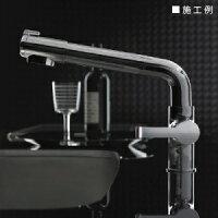 三栄水栓製作所シングル浄水器付ワンホールスプレー混合栓節水水栓キッチン用浄水カートリッジ内蔵タイプホース引出し機能付columnK8758JV