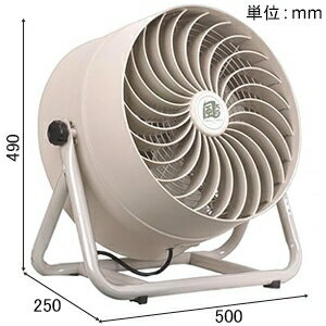 ナカトミ 循環送風機 《風太郎》 羽根径35cm 全閉式 風量2段階切替(弱・強) アルミ3枚羽根 CV-3510