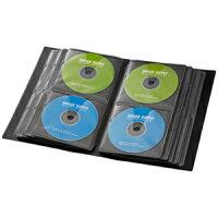 サンワサプライブルーレイディスク対応ファイルケース104枚収納背表紙・フィンガーホール付ブラックFCD-FLBD104BK