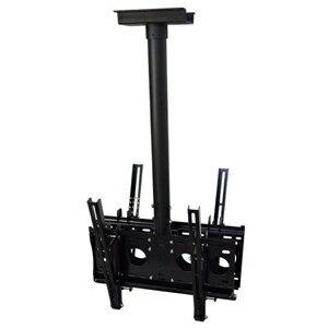 スタープラチナ TVセッターハング M/Lサイズ 両面吊りタイプ W508×H1000〜1500mm 角度調節機能付 スチール製 TVSHGHL202MB:電材堂