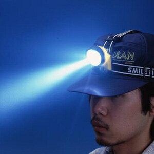 旭電機化成 3LEDヘッドランプ 防滴型 電池式 白色LED×3灯 サイズ64×59×49mm 装着用ベルト付 ACA-4302