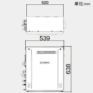 ノーリツ ガスふろ給湯器 《エコジョーズ》 設置フリー形 20号給湯タイプ シンプルタイプ 据置形 PRO-TECメカ搭載 戸建住宅向け 給水・給湯接続R1/2(15A) ガス種LPG GT-C2062SARXBL15ALPG