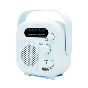 ヤザワ AM・FMシャワーラジオ 防水性能IPX5 ホワイト SHR02WH