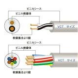 富士電線 ビニルキャブタイヤケーブル 22㎟ 3心 100m巻 VCT22SQ3C100m