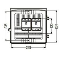 未来工業ウオルボックスプラスチック製防雨スイッチボックス《ヨコ型》ベージュWB-2YJ
