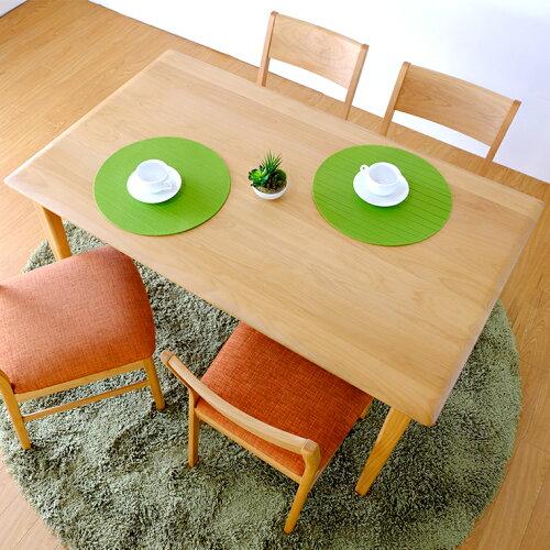 ダイニングテーブル テーブル 北欧 木製 アルダー 食卓用 125cm シンプル ナチュラル 天然木 無垢 ...