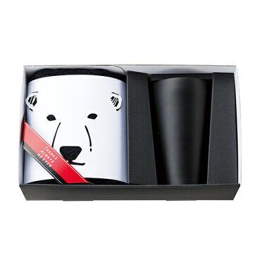 【ポイント10倍】B&W Zoo タンブラー&FT1(しろくま) /Black&White 今治タオル 誕生日プレゼント gift メンズ ヤマ日商店 ペンギン タオル ギフトセット 父の日 クリスマス モノトーン 白黒