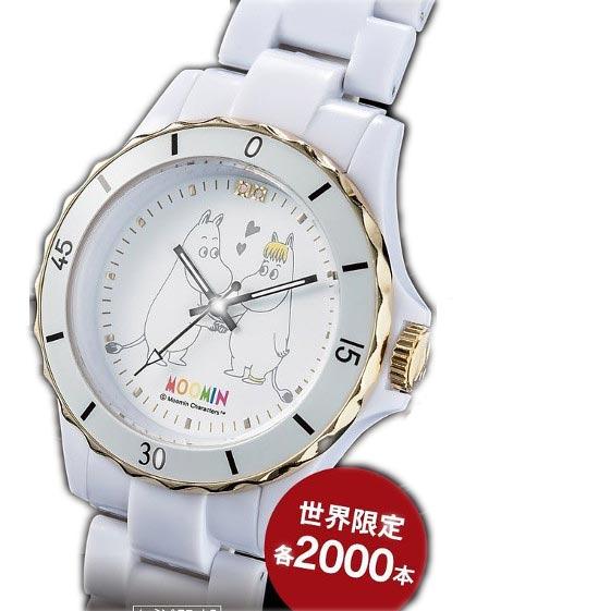 ムーミン生誕70周年腕時計 ダイヤモンド・ホワイトセラミックウォッチ【smtb-TD】【saitama】
