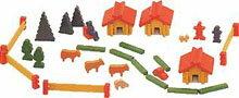 赤い屋根の小さなお家 ミニ積木【スイスの家(デュシマ社)】