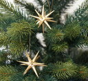 【金の星(小)】 ERZ  ドイツ製 木製 クリスマス ツリー オーナメント【ベツレヘムの星】