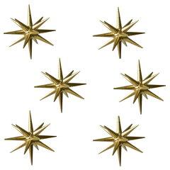 ERZ 金の星6個セット【 金の星 (小)箱入り6ヶセット】 ERZ 箱入り6ヶセット【ベツレヘム...
