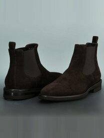 プレディビーノPREDIBINOONICEラストブラウンチョコレートスエード革起毛イタリア靴サイドゴアブーツビブラムラバーソール