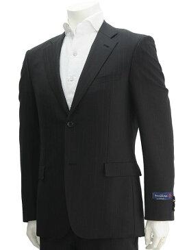 cloth by エルメネジルド・ゼニア ZEGNA生地 TRAVELLER トラベラー ブラック、グレーのストライプ 綾織りとミックスされた背抜き裏地 スリムフィット型2つボタンシングルスーツ