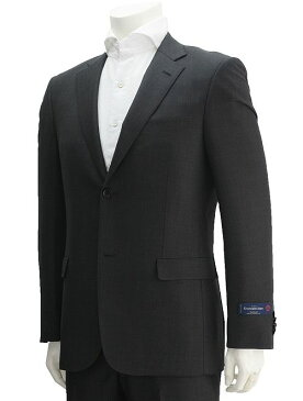 cloth by  エルメネジルド・ゼニア ZEGNA 生地TRAVELLER トラベラー ブラック×グレー 幾何学模様 マイクロバーズアイ 色香が溢れる背抜き裏地 スリムフィット型2つボタンシングルスーツ