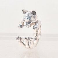 キャットフィーバーCATFEVER/EUROPEANCATヨーロピアン猫/ドッグフィーバーDOGFEVERハグリングイタリアハンドメイドアクセサリー指輪)n