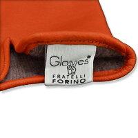 グローブスglovesオレンジ3本の縫い目のイタリア定番デザインラムレザーグローブ裏カシミア混で優しく暖かな手袋クリスマスギフト
