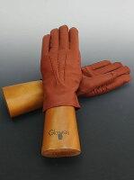 グローブスgloves[TigerOrangeオレンジブラウン]3本の縫い目に愛情を込めた手袋専門メーカーからのラムレザーグローブ手袋クリスマスギフト男女兼用)n