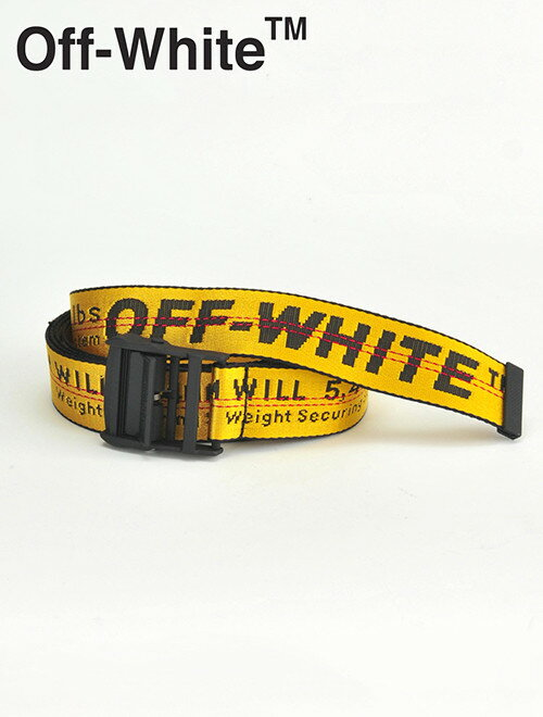 ベルト・サスペンダー, メンズベルト  co OFF-WHITE 3.5cm 2 YELLOW INDUSTRIAL BELT omrb012e1964-6000