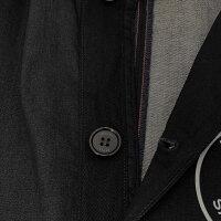 パリサンジェルマン×リプレイPARISSAINT-GERMAIN×REPLAY国内正規品メンズステンカラーコートライトストレッチブラックデニムクロス9.8オンスハーフ丈スリムフィットオフィシャルデニムコレクションPSGでらでら公式ブランド