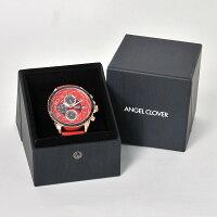 エンジェルクローバーAngelClover国内正規品メンズ腕時計ダブルプレイソーラークオーツトノー型クロノグラフレザーバンドラバー裏バンドブルーゴールドでらでら公式
