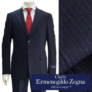 エルメネジルドゼニア  cloth by Ermenegildo Zegna  メンズスーツ ヘリテージ HERITAGE ブルーカラー ウールジャケット シャドーストライプ 2つボタンシングル  でらでら 公式ブランド