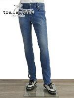 トラマロッサTRAMAROSSAレオナルド2years2年超えの色を演出ウォッシュドストレッチデニムクロスボタンフライジーンズLEONARDOスリムテーパード18春夏
