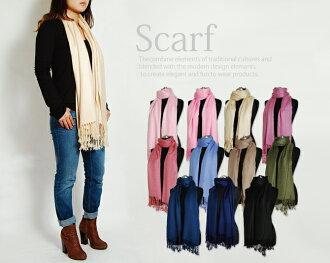 固體的圍巾圍巾圍巾,冬季要點愛引用愛石英也很受歡迎的固體圍巾大圍巾大圍巾