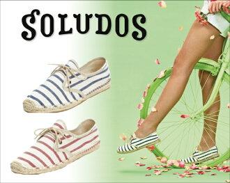 支持麻底帆布鞋出售soludos女士Lace Up Classic Stripe郵件班次的商品出售麻底帆布鞋人分歧D涼鞋懶漢鞋平跟鞋涼鞋Beach sandal泳衣帶子鞋帶[西日本]