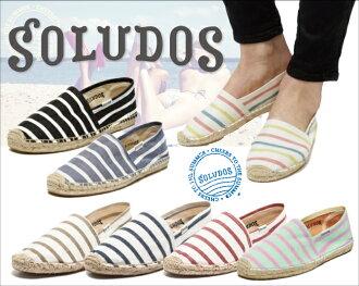 麻底帆布鞋出售soludos女士CLASSIC STRIPE古典條紋出售麻底帆布鞋人分歧D涼鞋懶漢鞋平跟鞋商品