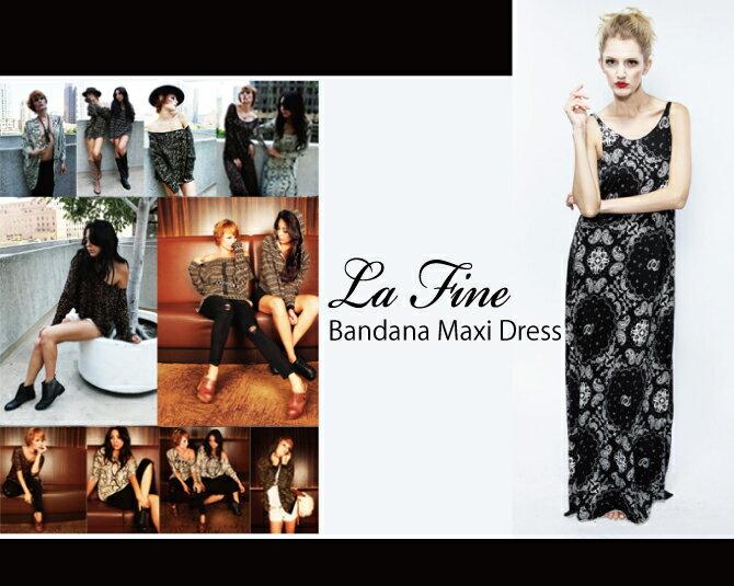 lafine ラファインバンダナ マキシドレス Bandana Maxi Dress マキシ丈ワンピース マキシワンピ レディース 通販 ワンピース 大きいサイズ ワンピース