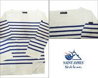 saintjamesセントジェームスNAVALllナヴァルユニセックスボートネック長袖ボーダーTシャツバスクシャツNAVAL2型番:2186