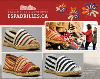 麻底帆布鞋Espadrille STRIPED FLATS麻底帆布鞋懶漢鞋女士人男女兩用懶漢鞋平跟鞋涼鞋Beach sandal泳衣商品不感到疼痛的現在受歡迎的麻底帆布鞋